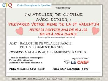 20180125 cours cuisine